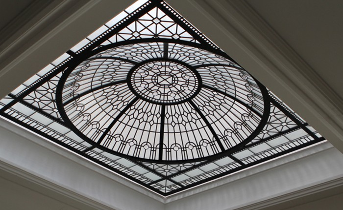 Bevel glass roof skylight dome